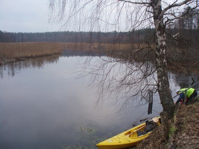 Pojezierze Brodnickie rzeka Skarlanka spływ kajakowy