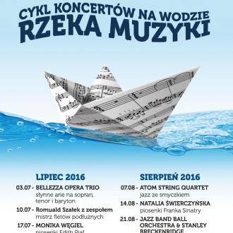 Rzeka Muzyki - cykl koncertów na wodzie (3.07-28.08)