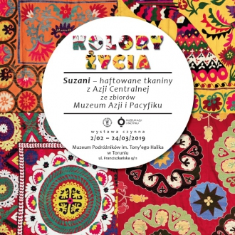 """""""Kolory życia. Suzani - haftowane tkaniny z Azji..."""
