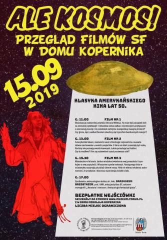 """Galeria dla """"Ale Kosmos!"""" Przegląd filmów SF w Domu Mikołaja Kopernika"""