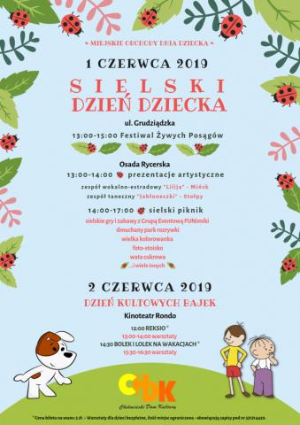 Sielski Dzień Dziecka w Chełmnie, 1 - 2 czerwca 2019 r. , plakat