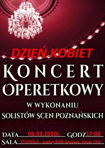Galeria dla Koncert Operetkowy w wykonaniu solistów scen poznańskich