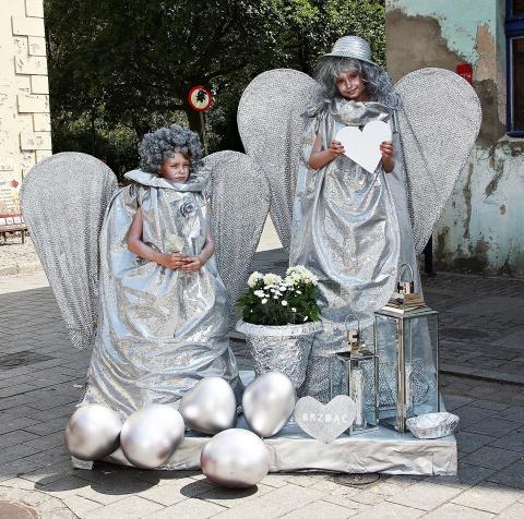 Festiwal Żywych Posągów w Chełmnie, fot. arch. Chełmińskiego Domu Kultury