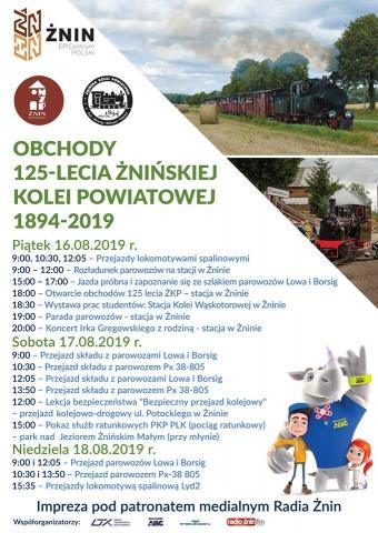 Galeria dla Obchody 125-lecia Żnińskiej Kolei Powiatowej 1894-2019