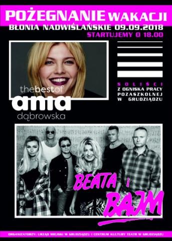 Galeria dla Pożegnanie Wakacji – koncert grupy BAJM i ANIA DĄBROWSKA
