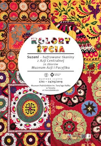 """Galeria dla """"Kolory życia. Suzani - haftowane tkaniny z Azji Centralnej ze zbiorów Muzeum Azji i Pacyfiku"""""""