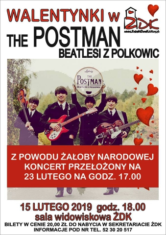 Galeria dla Koncert zespołu THE POSTMAN